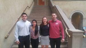 From left to right, Matt Howard, Jasmine Higuera, Ann Kaczowka, Nick Borsari
