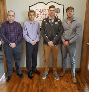 Charlton, MA Project Group; left to right : Jacob Grealis, Tristam Winship, Blake Rice, James Gadoury