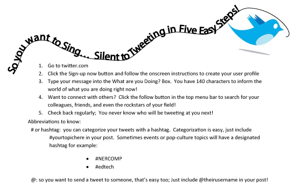 So you want to sing…  Tweeting in the Classroom