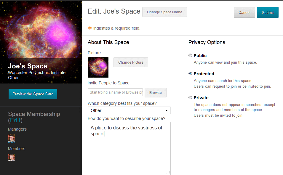 Blackboard 9.1 Feature Spotlight: Spaces