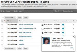 headshots in the discussion board