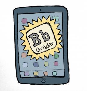 iPad image of BB Grader app
