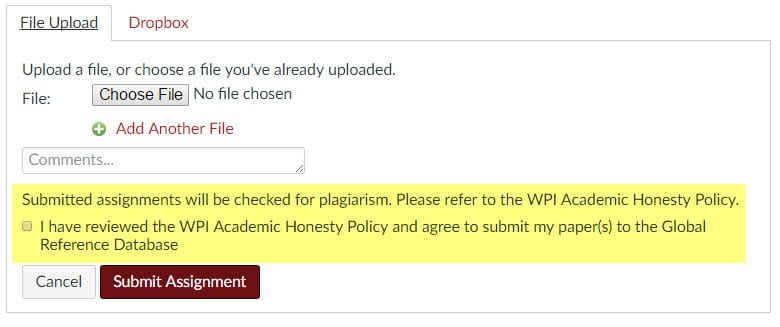 Plagiarism detection and Canvas: what are my options? : Technology