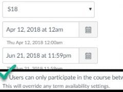 Overriding Term Availability Settings