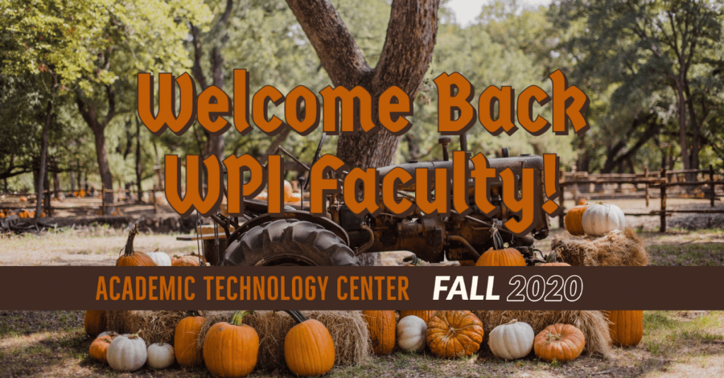welcome back faculty