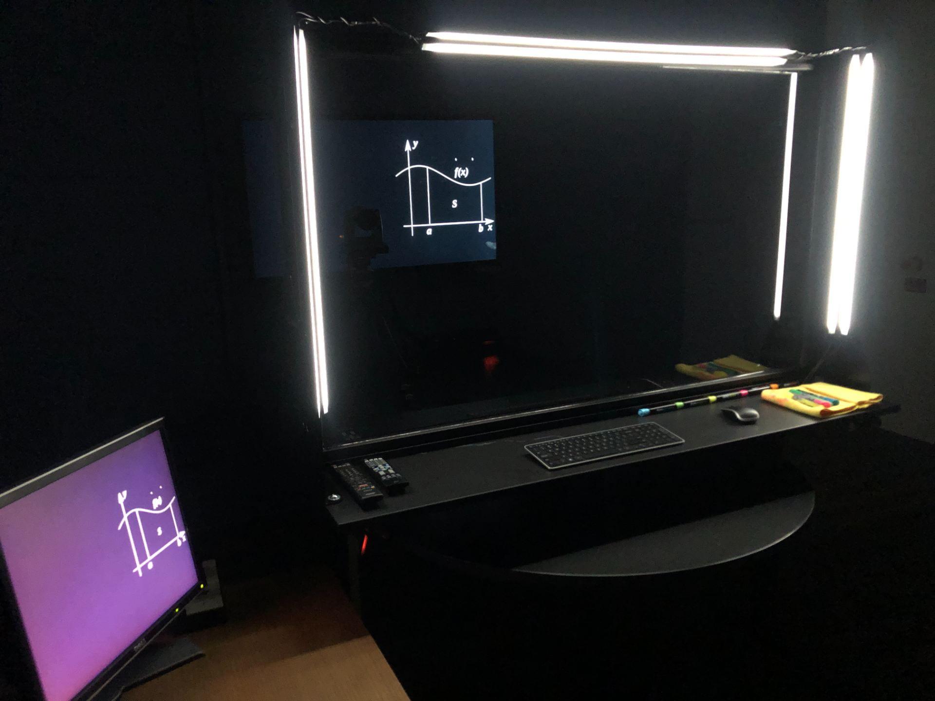 photo of the Lightboard Studio