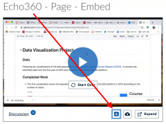 Sharing Echo360 videos in a Page