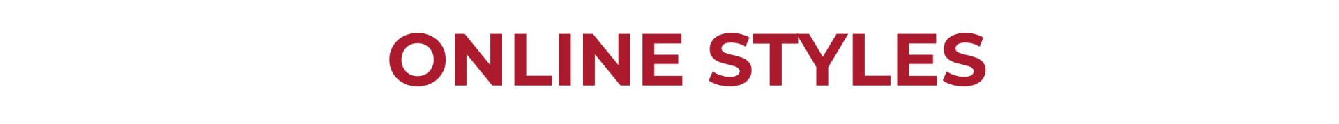 online styles for teaching header