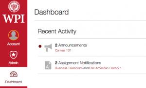 Canvas LMS desktop interface screenshot