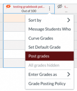 post grades for students
