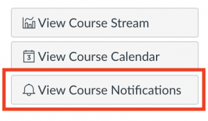 course level notifications