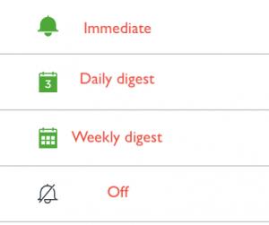 notification levels