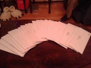 letters sent to PAs