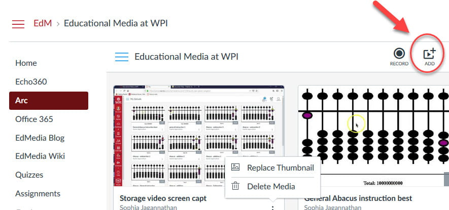 Video Sharing: From Powerpoint to Canvas : Educational Media