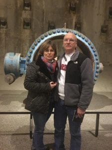 Monika at the 9/11 Memorial in Manhattan with her husband.