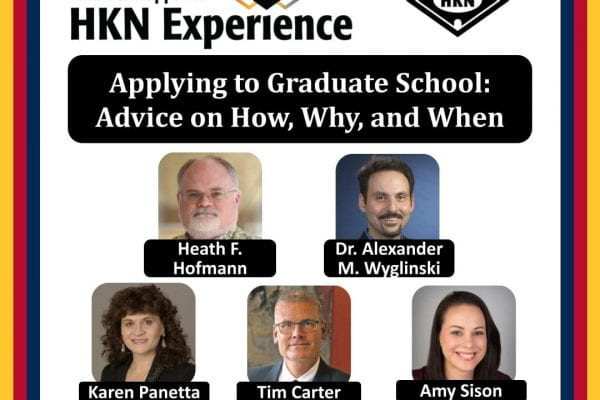 Wyglinski as part of a 2020 IEEE HKN panel focusing on the growth of young professionals via graduate studies
