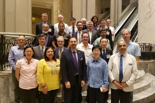 Wyglinski (as President of IEEE VTS) with IEEE VTS Board of Governors at Spring 2019 meeting in Kuala Lumpur