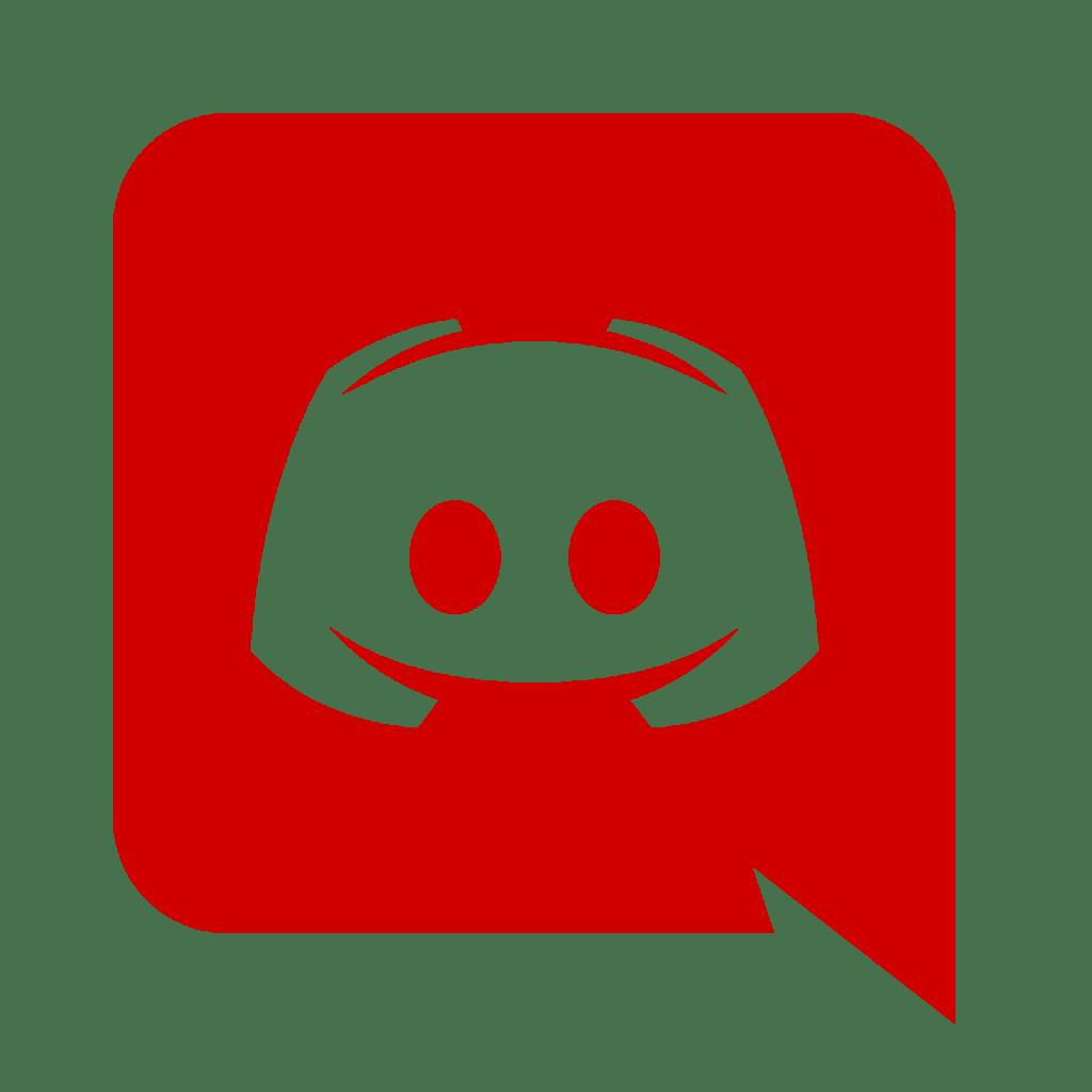 Red Discord logo.