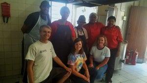 With SDR staff. WPI team: Cote Taylor, Marrisa Bernard, and Nasjela Thodhoraqi