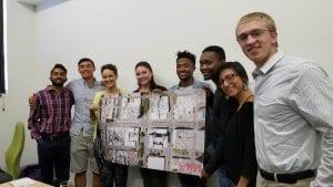 Kishan Patel, Max Luu, Sarah Brown, and Kevin Pawlak with OSCT Sponsors