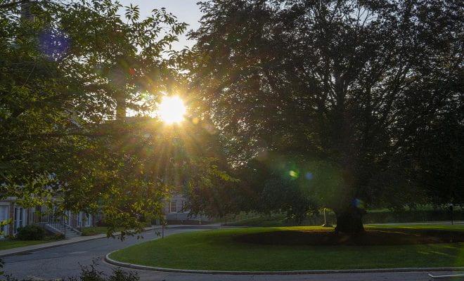 Sunrise on WPI campus