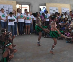 Xhosa dancing in the community