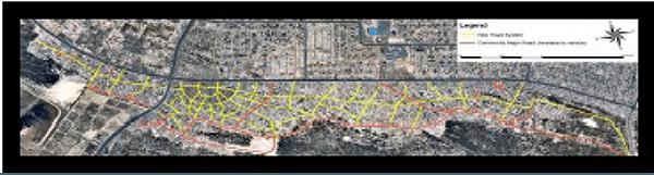 Figure 1: Proposed Roads for Monwabisi Park (Franck, Mayo, Tomasko, & Xie, 2008)