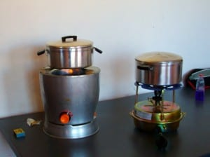 Arivi Flame Stove (left) and ParaSafe Primus Stove (right)