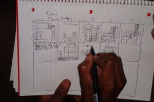 Working on storyboard