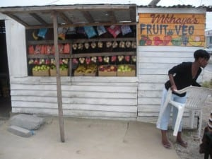 Fruit and Vegetable Stand in Monwabisi Park
