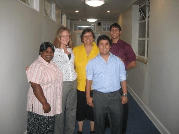 (From Left) Buyiswa Tonono, Amanda Jenkins, Di Womersley, Marco Angulo, and Matthew Perrone