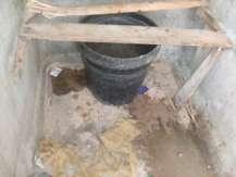 water and sanitation black buckets