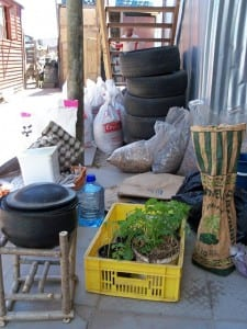 materials used at the workshop in monwabisi park