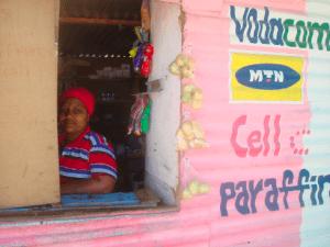 Female spaza shop owner