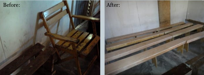 Before and After of Benches