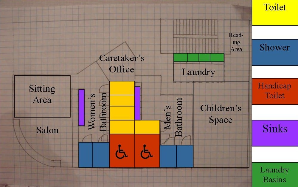 Multi purpose washup facility for Multi purpose building plans