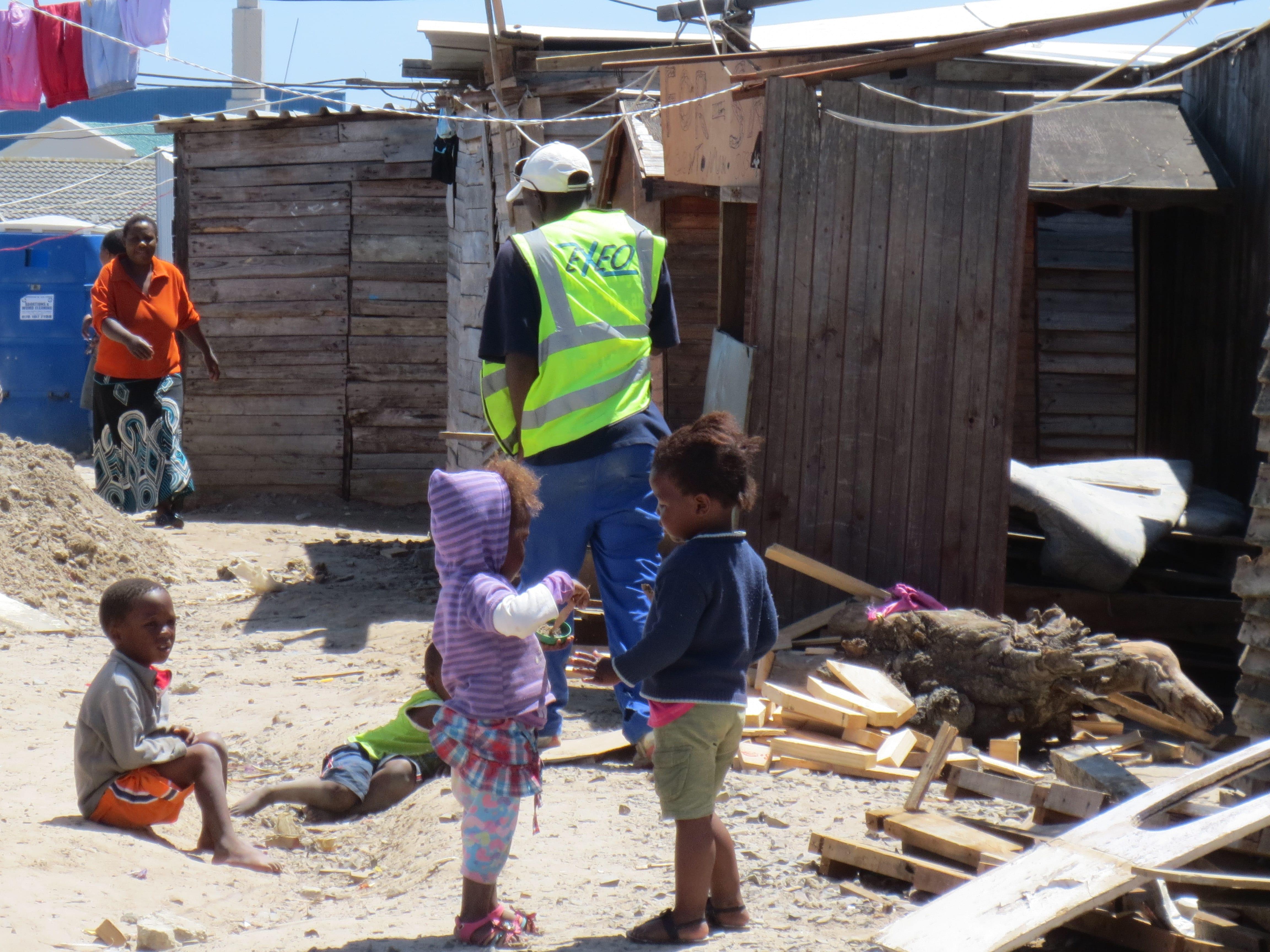 Everyday scene in Mtshini Wam. Joe Slovo Park, located in Milnerton, Cape  Town, South Africa ... aa7bc1b42b32