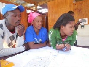 Siya (left), Noncedo (center) and Funeka (right)