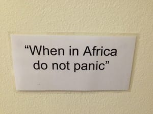 When in Africa...Don't Panic