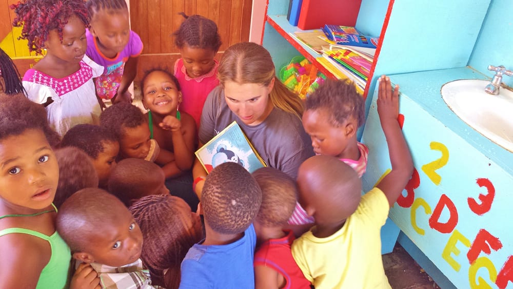 Mollie Reading a Book to Children