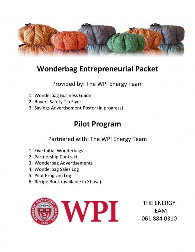 Wonderbag Entrepreneurial Packet image