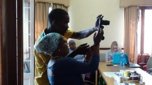 Lavista Teaching Nosiphiwo How To Use The Camera