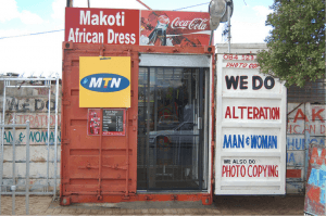 Although some shops are smaller and more informal, they offer a variety of services. (Photo credit: Van der Wath)