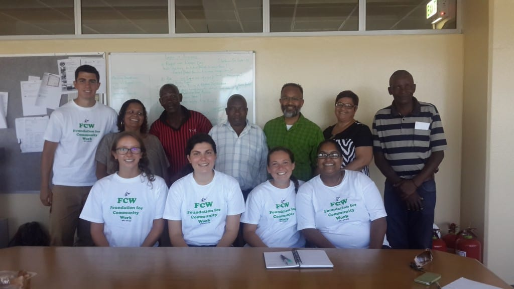 Representatives from FCW, Vygieskraal, and the WPI Team after a group discussion