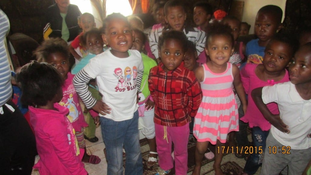 Some of the children at Mureda's crèche in Vygieskraal