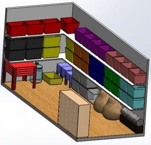 Inside View of the CAD Model of the Shipping Container
