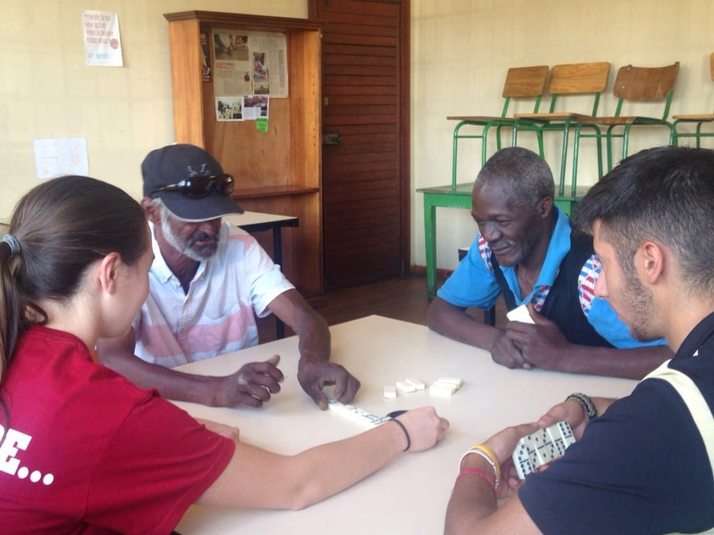 Some members of our team playing with co-researchers from both our project and the Khulisa project.