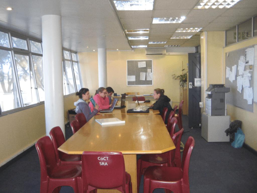 The WPI Team hard at work in the Vygieskraal Stadium Boardroom
