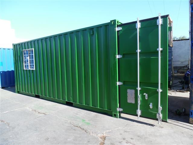 A 6m x 2m shipping container, which FCW has proposed to be retrofitted as a resource storage hub.