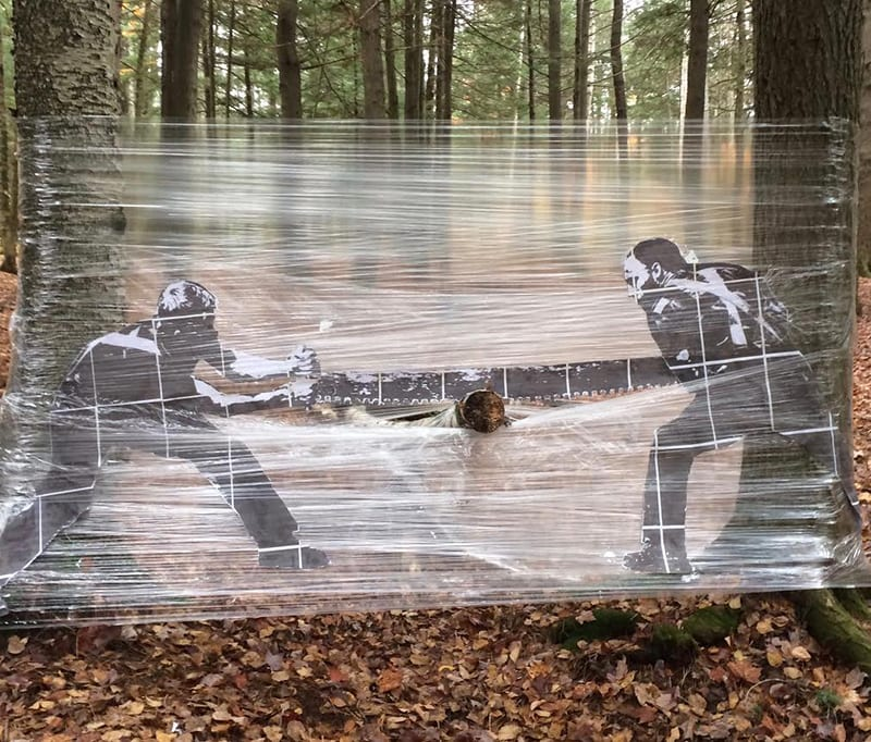 Outdoor installation artwork by Eric Berry.